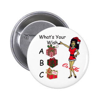 Christmas Wish 2 Inch Round Button