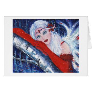 Christmas Wisher Fairy Greeting Card By Renee