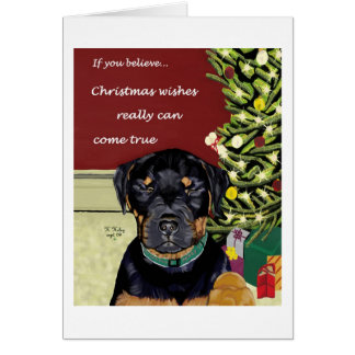 Christmas Wishes card w/inside text