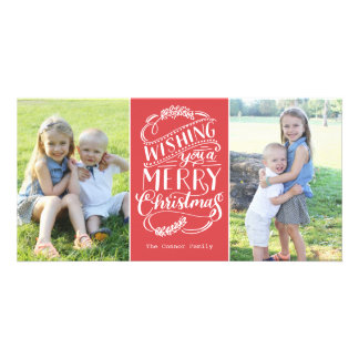 Christmas Wishes Collection Custom Photo Card