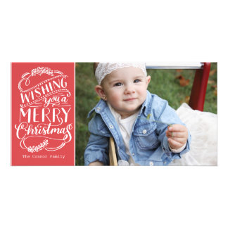 Christmas Wishes Collection Personalized Photo Card