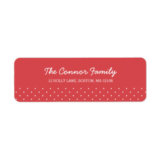 Christmas Wishes Collection Return Address Label