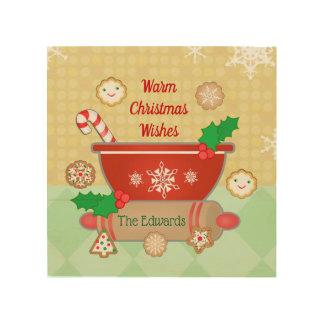 Christmas Wishes Holiday Custom Wood Wall Art