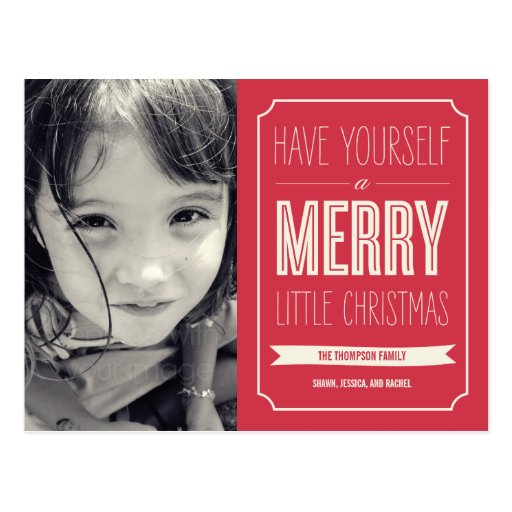 Christmas Wishes Holiday Photo Card Postcard Post Card