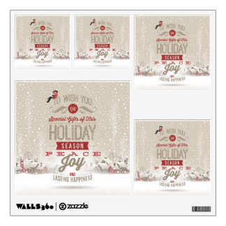 Christmas Wishes Square Wall Decals