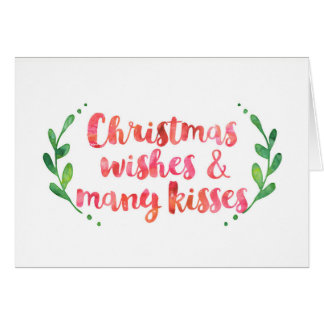 Christmas Wishes watercolor card