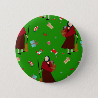 christmas witch Befana 2 Inch Round Button