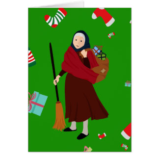 christmas witch Befana Card