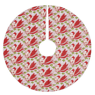 Christmas with a Frenchie Brushed Polyester Tree Skirt