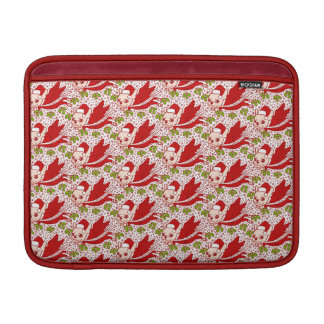 Christmas with a Frenchie MacBook Sleeves