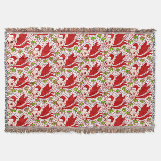 Christmas with a Frenchie Throw Blanket