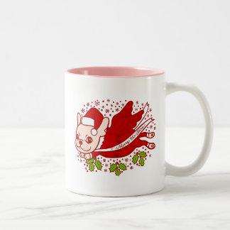 Christmas with a Frenchie Two-Tone Coffee Mug