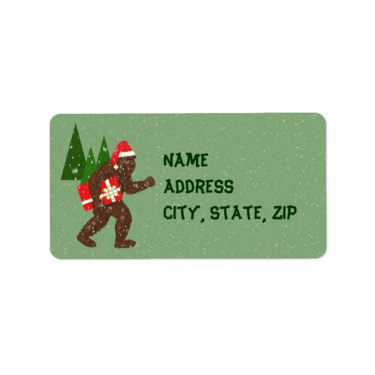 """Christmas with Bigfoot"" Label"