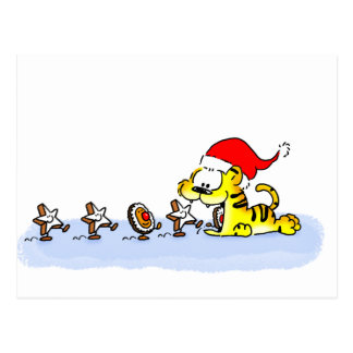 Christmas with Kuscheltiger Postcard