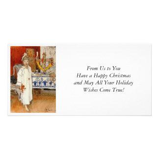 Christmas with Ulf  1894 Custom Photo Card