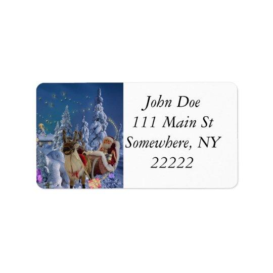 Christmas Wonderland Label