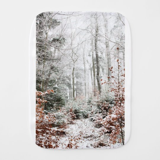 Christmas Woodland Burp Cloth