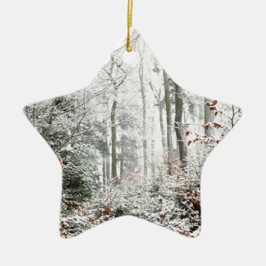 Christmas Woodland Ceramic Ornament