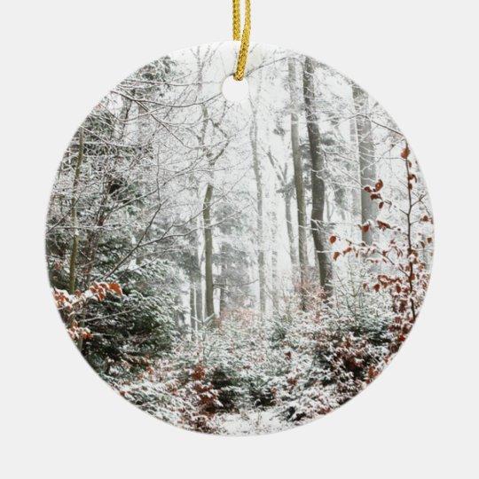 Christmas Woodland Ceramic Ornament