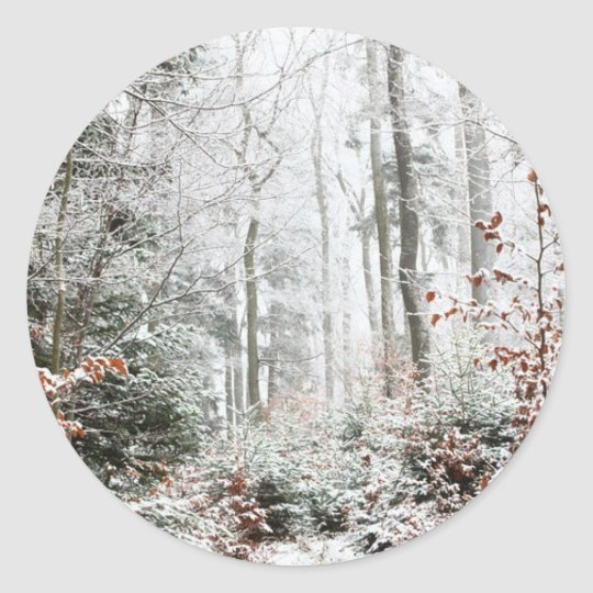Christmas Woodland Classic Round Sticker