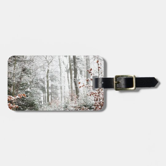 Christmas Woodland Luggage Tag