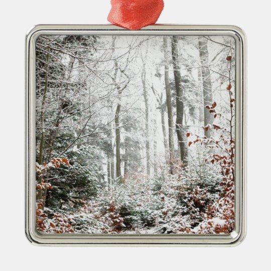 Christmas Woodland Metal Ornament