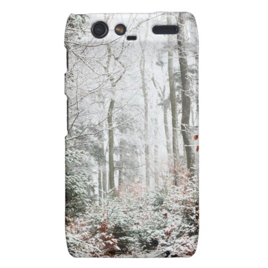 Christmas Woodland Motorola Droid RAZR Cover