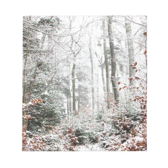 Christmas Woodland Notepad