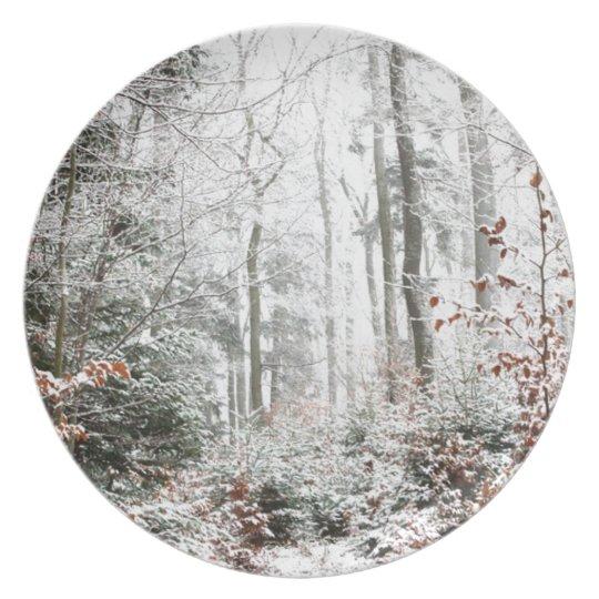 Christmas Woodland Plate