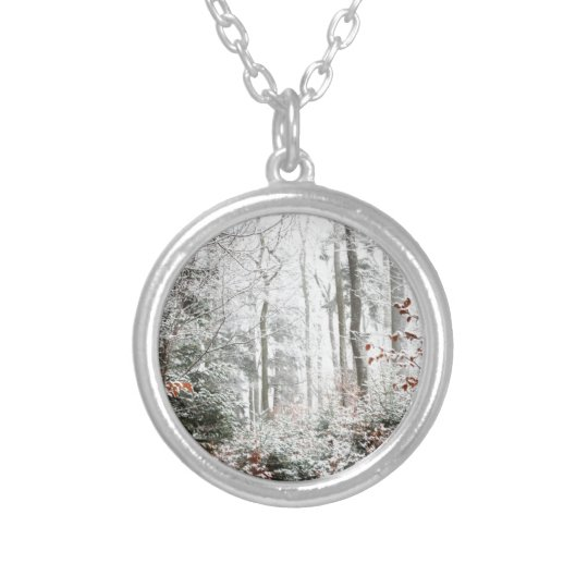 Christmas Woodland Silver Plated Necklace