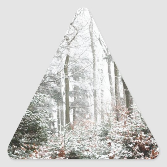 Christmas Woodland Triangle Sticker