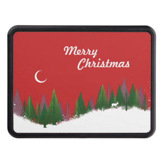 Christmas Woods Scene Tow Hitch Covers