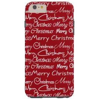 Christmas word art iPhone 6 plus touh case
