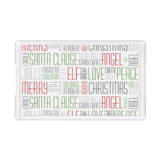 Christmas Words - Holidayzfordayz Acrylic Tray