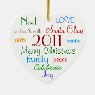 Christmas Words Personalized Ornament