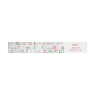Christmas Words Wrap Around Label- Holidayzfordayz Wrap Around Label