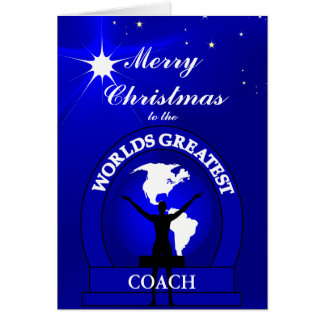 Christmas Worlds Greatest Coach Greeting Card