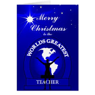 Christmas Worlds Greatest Teacher Greeting Card