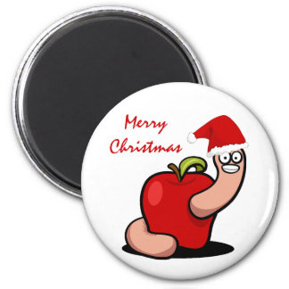 Christmas Worm Magnet