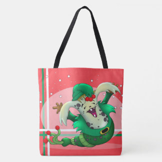CHRISTMAS WORM MONSTER TOTE CUTE CARTOON TOTE BAG