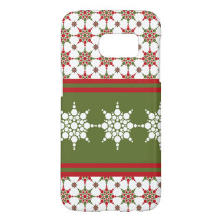 Christmas Wrapper Paper Snowflake Pattern Design Samsung Galaxy S7 Case