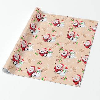 Christmas Wrapping Paper with santa