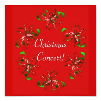"Christmas Wreath 5.25"" Square Invitation Card"