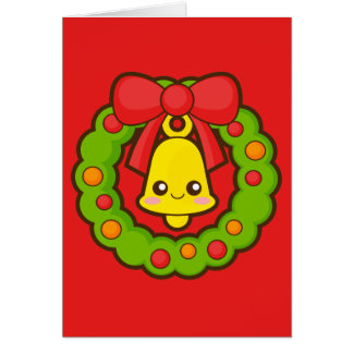 Christmas Wreath and Bell Card