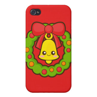 Christmas Wreath and Bell Case For iPhone 4