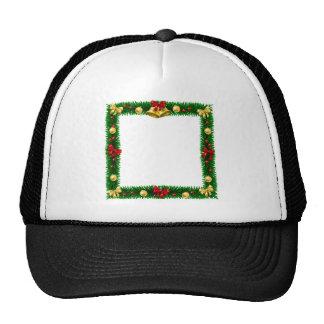Christmas Wreath Border Frame Trucker Hat