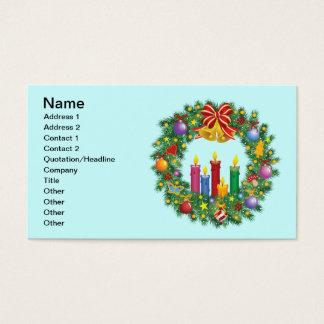 Christmas Wreath Business Card