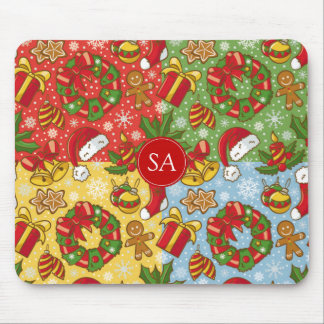 Christmas wreath, Christmas Ornaments, Santa's Hat Mouse Pad
