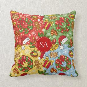 Christmas wreath, Christmas Ornaments, Santa's Hat Throw Pillow