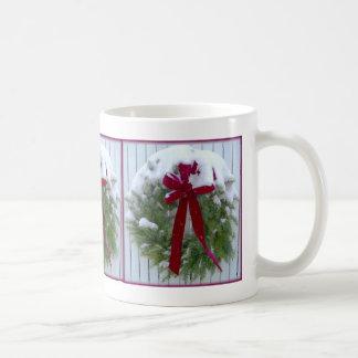 Christmas Wreath Classic White Coffee Mug